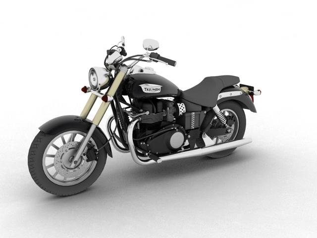 triumph america 2012 3d model 3ds max fbx c4d obj 154903