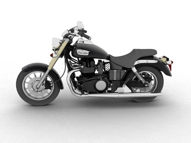 triumph america 2012 3d model 3ds max fbx c4d obj 154904