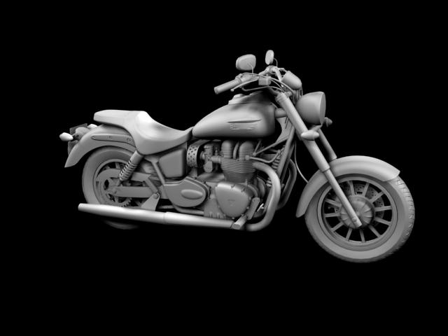 triumph america 2012 3d model 3ds max fbx c4d obj 154909