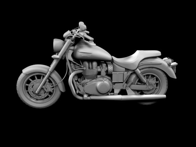 triumph america 2012 3d model 3ds max fbx c4d obj 154911