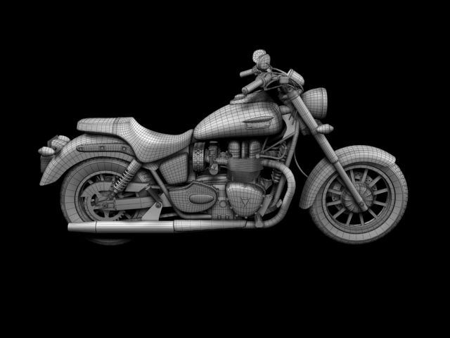 triumph america 2012 3d model 3ds max fbx c4d obj 154922