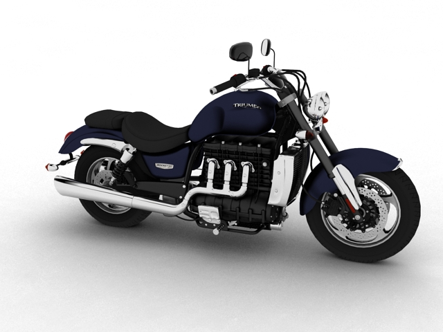 triumph rocket iii roadster 2013 3d model 3ds max fbx c4d obj 155142