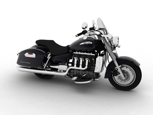 triumph rocket iii touring 2013 3d model 3ds max fbx c4d obj 155228