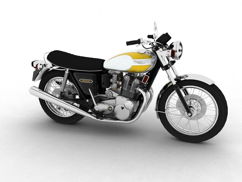 triumph t160 trident 1975 3d model 3ds max dxf fbx c4d obj 158123