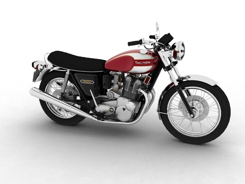 triumph t160 trident 1975 3d model 3ds max dxf fbx c4d obj 158124