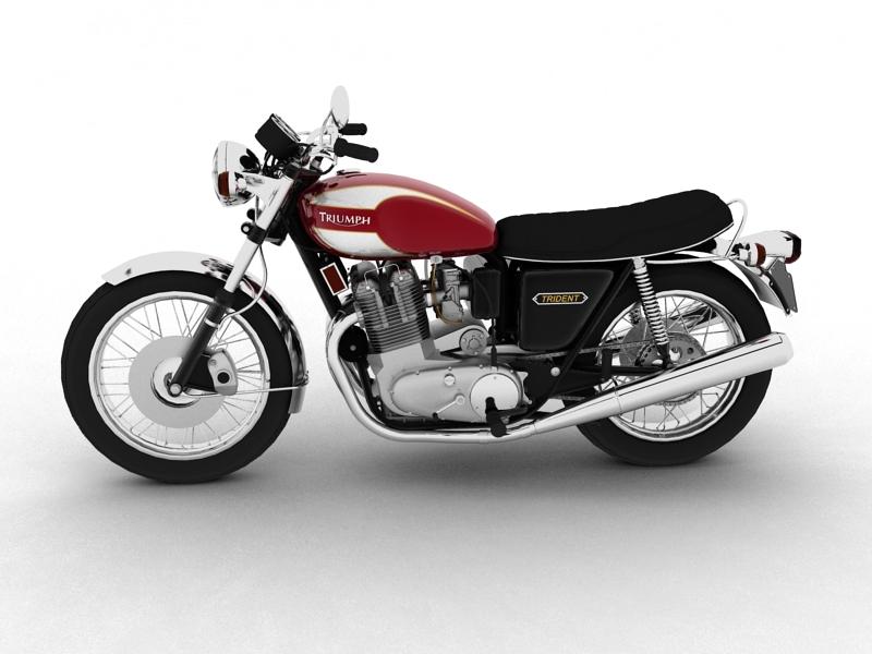 triumph t160 trident 1975 3d model 3ds max dxf fbx c4d obj 158126
