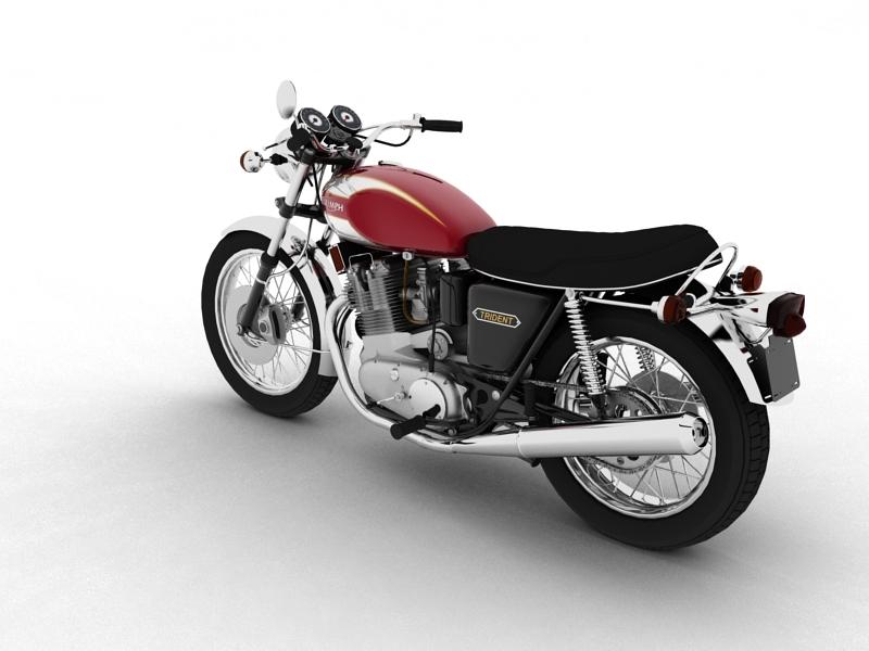 triumph t160 trident 1975 3d model 3ds max dxf fbx c4d obj 158127