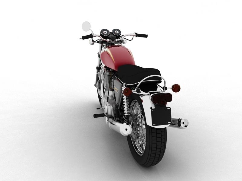 triumph t160 trident 1975 3d model 3ds max dxf fbx c4d obj 158128