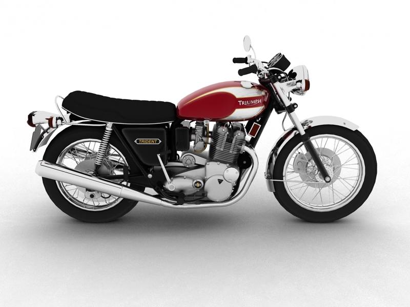 triumph t160 trident 1975 3d model 3ds max dxf fbx c4d obj 158130