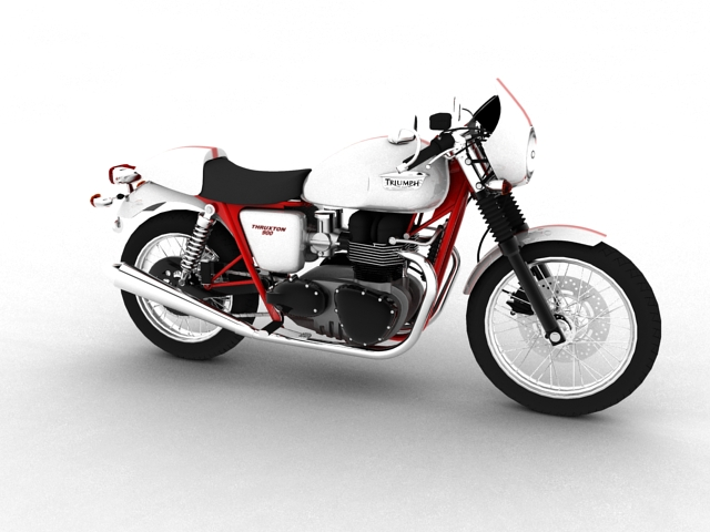 triumph thruxton 2011 3d model 3ds max c4d obj 152357