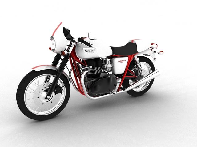 triumph thruxton 2011 3d model 3ds max c4d obj 152358