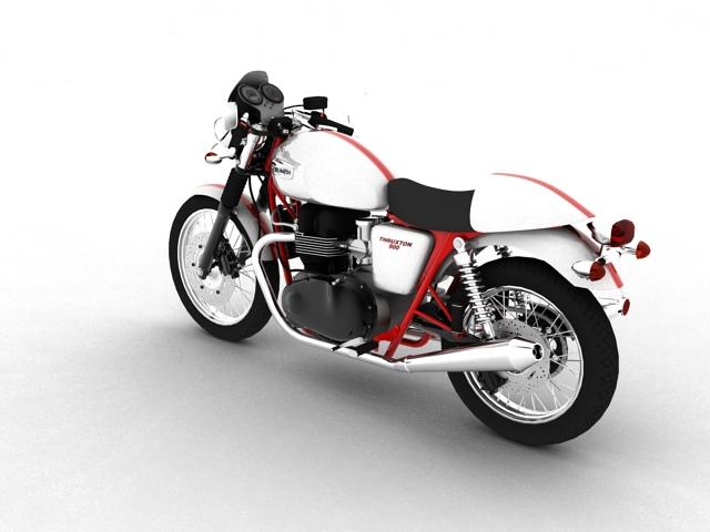 triumph thruxton 2011 3d model 3ds max c4d obj 152360