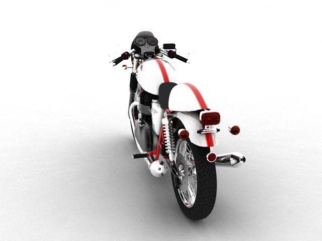 triumph thruxton 2011 3d model 3ds max c4d obj 152361