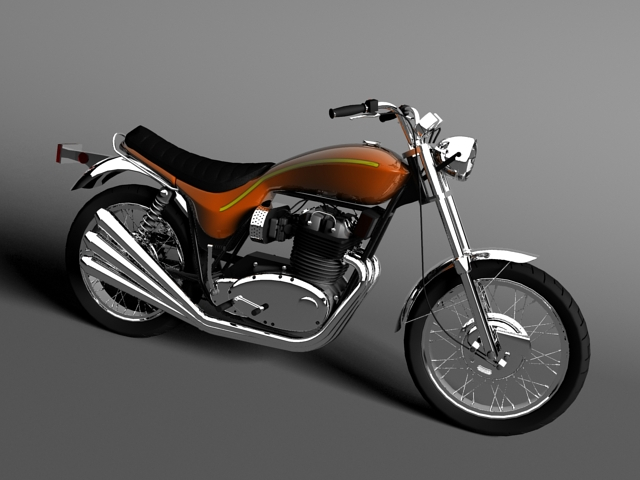 triumph x75 hurricane 3d model 3ds max c4d obj 147655