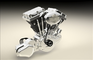 v twin engine 3d modelo 3dm 106886