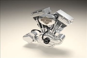 v twin engine 3d model 3dm 106887