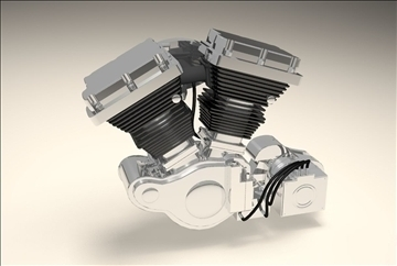 v twin engine 3d model 3dm 106888