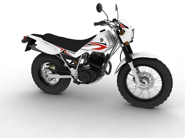 yamaha tw200 2012 3d model 3ds max fbx c4d obj 154771