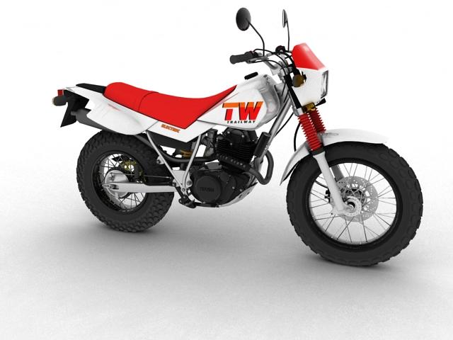 yamaha tw200 2012 3d model 3ds max fbx c4d obj 154772