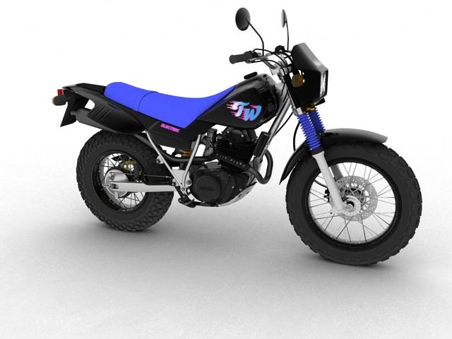 yamaha tw200 2012 3d model 3ds max fbx c4d obj 154773