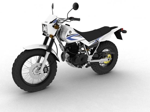 yamaha tw200 2012 3d model 3ds max fbx c4d obj 154774