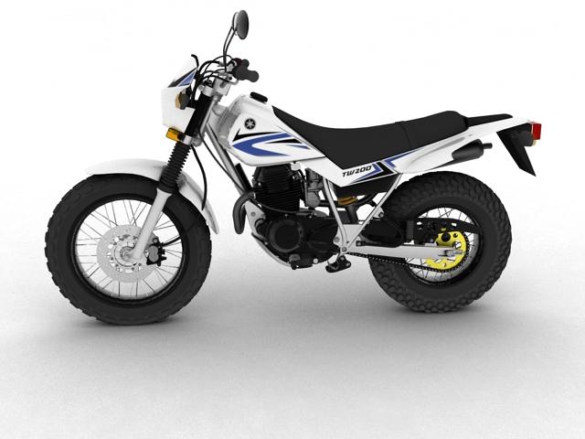yamaha tw200 2012 3d model 3ds max fbx c4d obj 154775