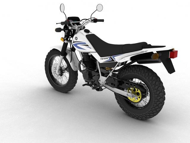 yamaha tw200 2012 3d model 3ds max fbx c4d obj 154776