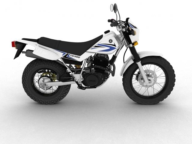 yamaha tw200 2012 3d model 3ds max fbx c4d obj 154779