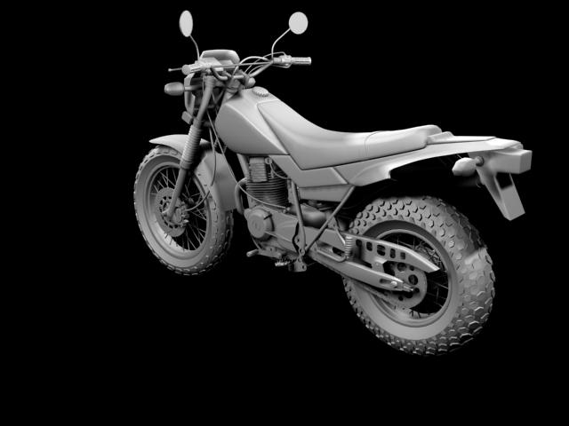 yamaha tw200 2012 3d model 3ds max fbx c4d obj 154780