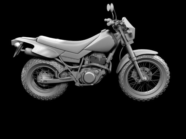 yamaha tw200 2012 3d model 3ds max fbx c4d obj 154783