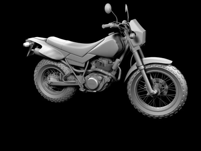 yamaha tw200 2012 3d model 3ds max fbx c4d obj 154784
