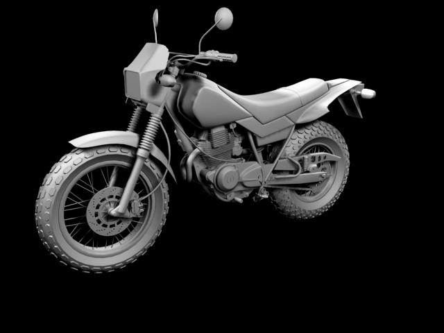 yamaha tw200 2012 3d model 3ds max fbx c4d obj 154785