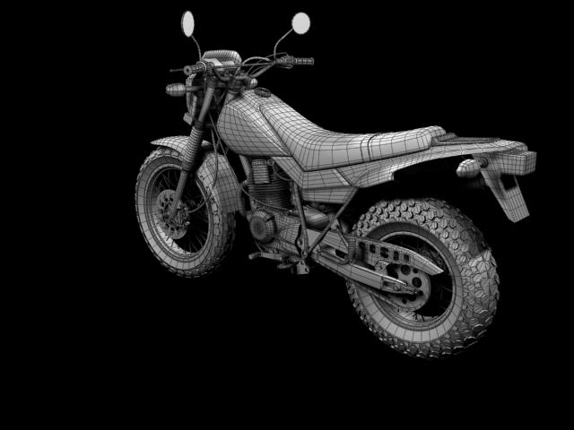 yamaha tw200 2012 3d model 3ds max fbx c4d obj 154787