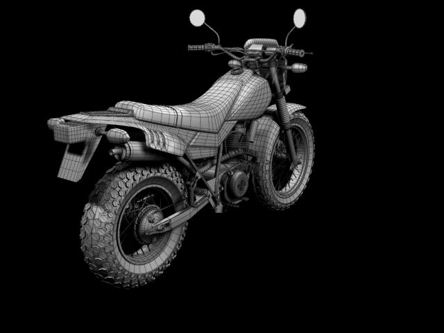 yamaha tw200 2012 3d model 3ds max fbx c4d obj 154789