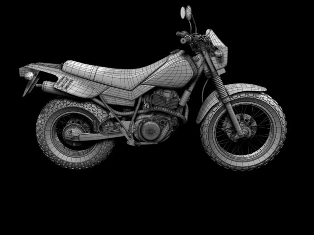 yamaha tw200 2012 3d model 3ds max fbx c4d obj 154790