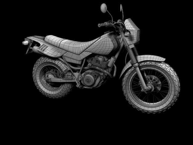 yamaha tw200 2012 3d model 3ds max fbx c4d obj 154791
