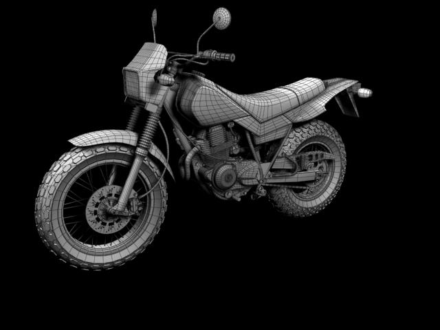 yamaha tw200 2012 3d model 3ds max fbx c4d obj 154792