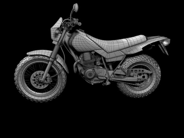 yamaha tw200 2012 3d model 3ds max fbx c4d obj 154793