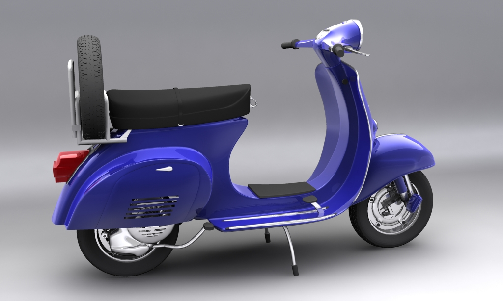 vespa 150 piaggio primavera 3d modell max 113878