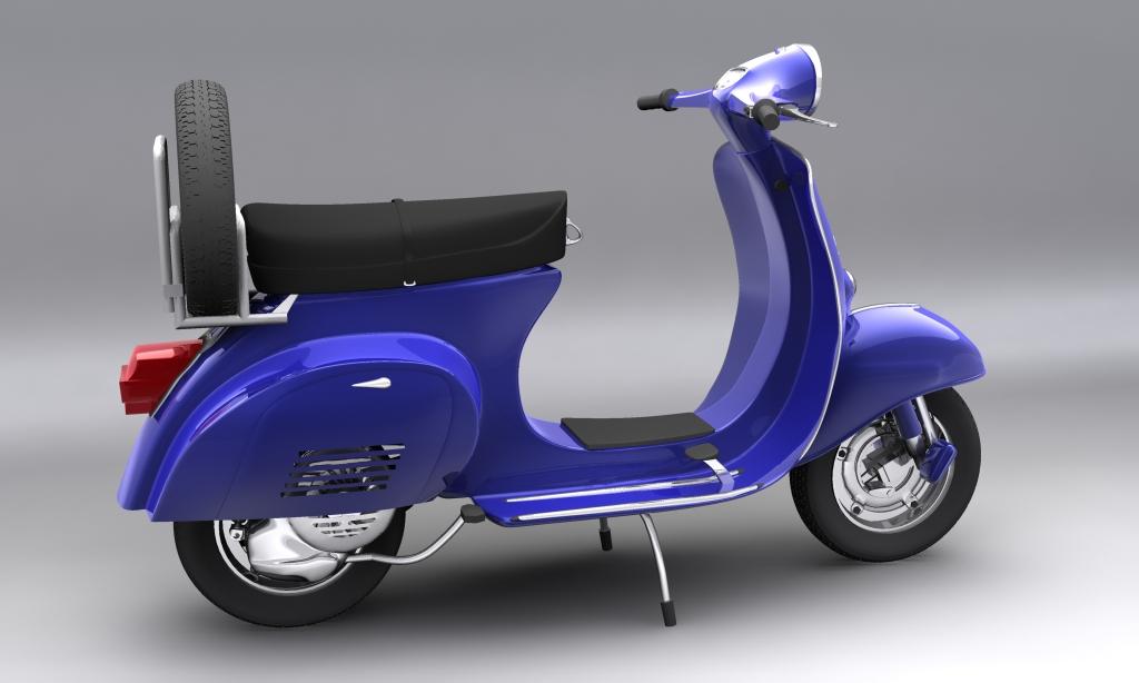 vespa 150 piaggio primavera 3d modelis max 113878