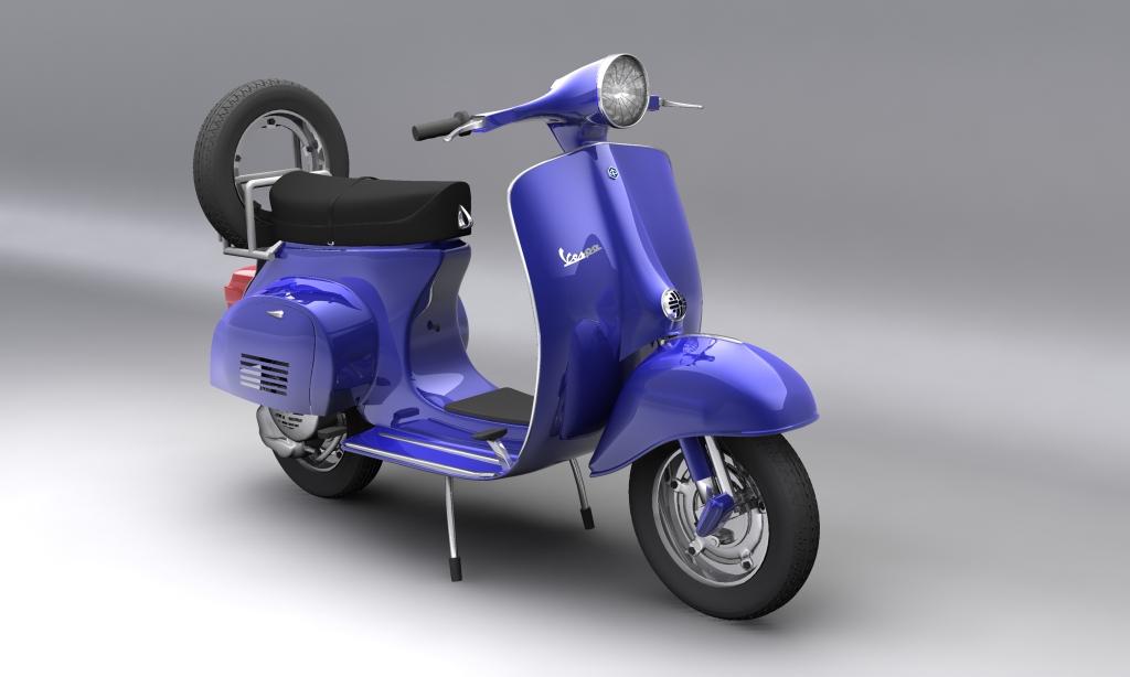 vespa 150 piaggio primavera 3d model max 113879