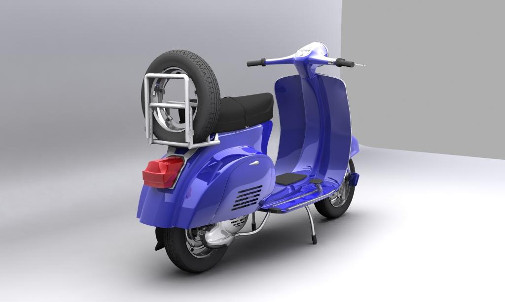 vespa 150 piaggio primavera 3d model max 113881