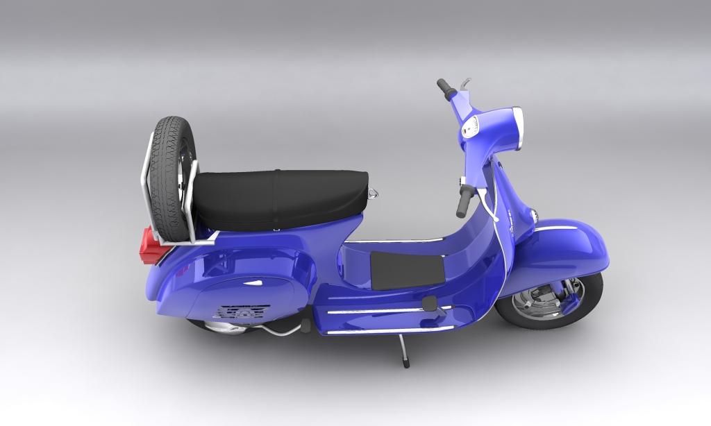 vespa 150 piaggio primavera 3d model max 113882
