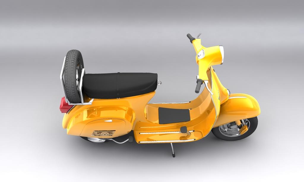 vespa 150 piaggio primavera 3d model max 113883