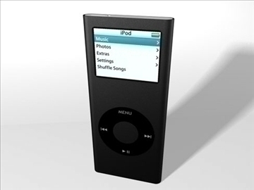 2006 ipod nano 3d model 3ds dxf fbx c4d drugi obj 82676