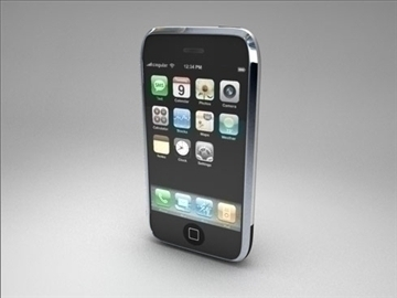 Apple iPhone 3d модел 3ds dxf fbx c4d други обј 82687