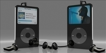 Apple ipod 3d model max 110182
