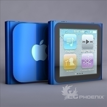 gen6 ipod nano 3d model 3ds dxf fbx c4d x  obj 107309