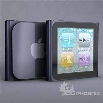 gen6 ipod nano model 3d 3ds dxf fbx c4d x obj 107310
