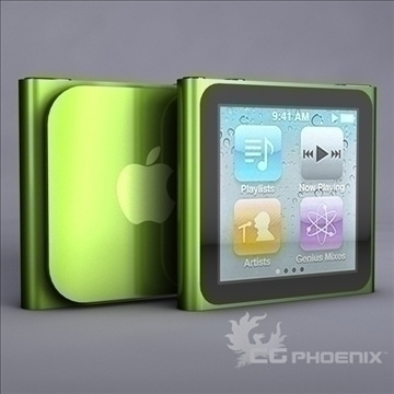 gen6 ipod nano 3d model 3ds dxf fbx c4d x  obj 107311